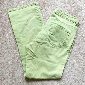 Pistachio green GAP boot cut stretch jeans
